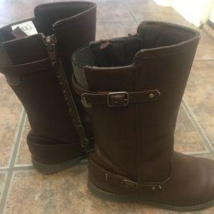 Crazy 8 little girl brown boot
